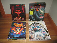 VINTAGE LOT PC GAMES DIABLO ll 2 (PC 2000)+PINBALL+RED SHIFT+NFL YEARBOOK  LOT 2