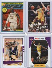 LOT19 BASKETBALL CARDS, LEBRON JAMES 2020-21 4 PCS