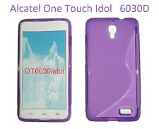 TPU gel silicone case cover S-line purple for Alcatel One Touch Idol OT-6030D