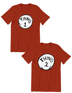 Thing One (1) And Thing Two (2) Mens Ladies Kids Adult Funny Trendy Gift T-shirt