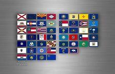 Planche 50x autocollant sticker drapeau rangement usa americain etats unis r2