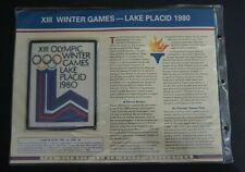 Olympic XIII Winter Games Lake Placid 1980 Patch on Info Card Willabee & Ward