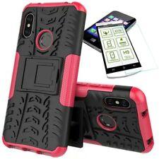 For Xiaomi Mi A2 /Mi 6X Hybrid Case Outdoor 2 Pieces Pink Case + 0,26 H9 Glass