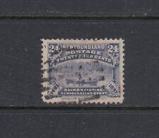 NEWFOUNDLAND: 1897 400th Anniversary 24¢ Salmon Fishing SG 76 £38, fine used.