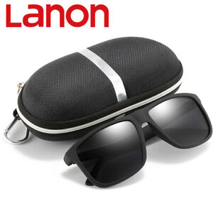 LANON Pilotenbrille Polarisiert Sonnenbrille 100% UV-blockierend Outdoor Fahrt