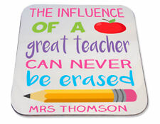 Personalised Printed Coaster school gift! influence of great teacher christmas