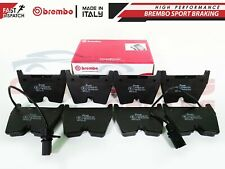 FOR AUDI RS4 B7 B8 RS5 R8 4.2 5.2 FSI FRONT BREMBO GENUINE BRAKE PADS SET x8
