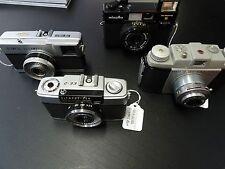 Lot of four Vintage 35mm RF Cameras Olympus Pen/EES/Kodak Pony 35/Minolta