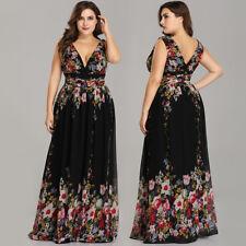 Ever-Pretty Plus Size Floral Wedding Party Dresses Long Cocktail Maxi Dress 9016