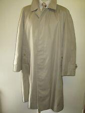 Genuine Vintage Burberry Prorsum Light Brown Raincoat Coat Mac Size 44 Euro 54 S