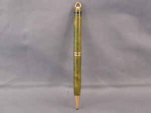Vintage gold and green ring top pencil--working