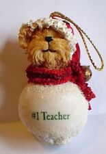 Boyds-Snowbear Ornaments with Sayings-#1 Teacher