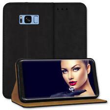 Custodia bookstyle per Samsung Galaxy S8 Plus (G955 / 6.2'') - vera pelle - nero