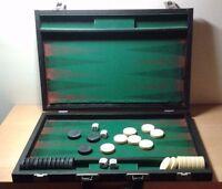 Occasion - Jeu De Table Backgammon Avec Trousse - Item Pour Collectors