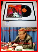 🔥 MEAT LOAF Framed Signed AUTOGRAPHED Bat Out Of Hell RECORD ALBUM BECKETT BAS