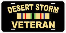 Desert Storm Veteran Aluminum Novelty Car License Plate
