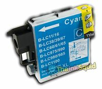 Compatible Cyan/Blue LC985 (LC39) Ink Cartridge for Brother MFC-J265W Printer