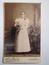 Seidenberg o. L. - stehende Frau im Kleid - Portrait / CDV