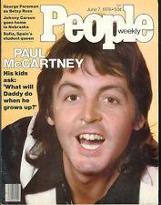 PAUL McCARTNEY 1976 Wings Linda Stella Beatles TERRY BRADSHAW George Foreman