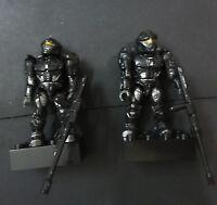 lot 2 Halo Mega Bloks BLACK RECON SPARTAN  Action Figure #FDJ5
