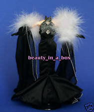 Starlet Vogue Black Evening Gown Period Fashion for Barbie Doll