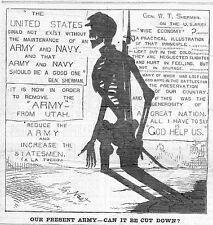THOMAS NAST SKELETON BAYONET, ARMY, NAVY, UTAH, SHERMAN