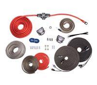 Rockford Fosgate RFK4D True AWG 4 Gauge Dual Two Amplifier Wiring Kit RCA