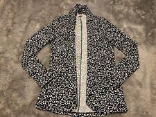 Show Me Your Mumu Boss Blazer Size Small Leopard Animal Print Black White