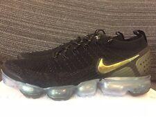 Nike Air Vapormax Flyknit 2 Black Gold EU 43 UK 8.5 US 9.5 Multicolor Metallic