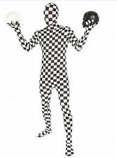 2nd Skin Checkered Full Bodysuit Costume Great for Halloween Bachelor Party New!