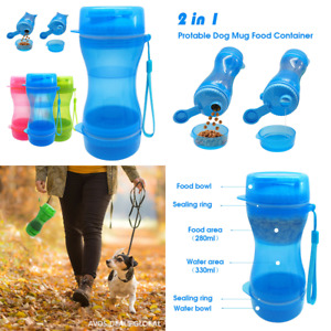 Portable Pet Water and Food Bottle Bowl Dogs Cat Travel Drinking Bowl Dispenser