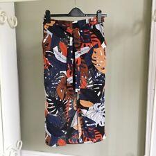 Primark Floral Summer Print Wrap Midi Skirt 8