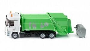 Siku Refuse Lorry, Garbage Truck Green - Mercedes Actros 1:50 Scale 2938