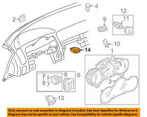 83950-51010 Toyota Lamp assy, passenger seat belt warning 8395051010, New Genuin