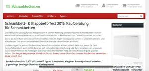 🛏️ schrankbetten.eu - Geschäftsverkauf Affiliate Projekt + Top Domain Klappbett