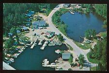 Nice Chrome Postcard Aerial View Olson's Resort Crane Lake MN B4119
