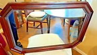VINTAGE GENUINE MAHOGANY WOOD FRAME WALL MIRROR BY BRANT CO.
