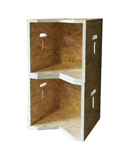 """Stackable Vinyl Record Storage Display Box Stores Up to 180 x 12"""" LP's T Design"""