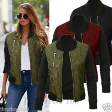 Women's Zipper Long Sleeve Short Coat Jacket Trench Parka Outwear Cardigan Tops