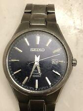 Seiko Men's Solar Titanium Watch 100M SNE377 Black Dial 40mm - Used (V157-0BB0)