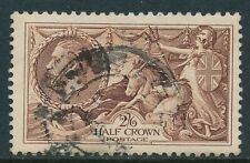 1934 GB 2/6d CHOCOLATE BROWN SEAHORSE USED SG450 our ref A4