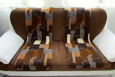 "Seat Cover / Couch Saver Set 2 Pcs "" Patchwork "" 40x200 cm 100% Wool"