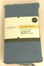 Threshold Ultra Soft Pillowcases Set of 2 Standard Queen Size in Blue