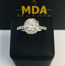 SILVER CUBIC ZIRCONIA ENGAGEMENT RING