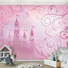 312x219cm Muro Murale Foto Parati Fate e Unicorni Ragazze Camera Adesivo