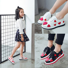 Children Kid's Shoes Casual Leather Heart Lace Up Pumps Hollow Out Carved Lm14