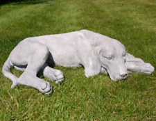 More details for dog statue labrador sculpture laying puppy ornament garden outdoor indoor grey