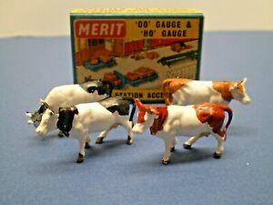 "Vintage MERIT HO / OO Gauge "" COWS STANDING "" No. 5100 NOS L@@K"