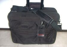 TUMI Wheeled  Deluxe Expandable Brief Carry On Weekender Bag Ballistic Nylon