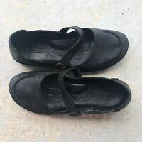 BORN Women's Shoes Alvara Slip On Mary Jane Flat Black Leather Size 8.5